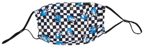 SONIC THE HEDGEHOG CHECKERED AOP ADULT FACE COVER
