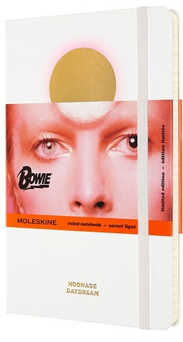 - Moleskine Limited Edition Notebook David Bowie, Large, Ruled, White (5 x 8.25)