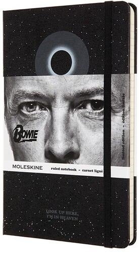 - Moleskine Limited Edition Notebook David Bowie, Large, Ruled, Black (5 x 8.25)