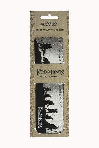 LORD OF THE RINGS LEATHER BOOKMARK - THE FELLOWSHI