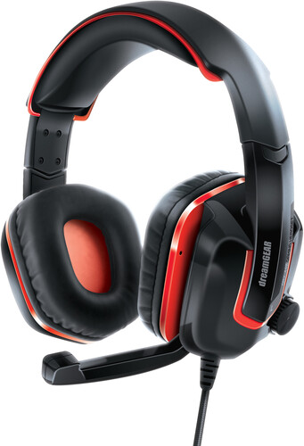 - DreamGear DGSW-6510 GRX-440 Nintendo Switch Gaming Headset With BoomMicrophone Foldable (Black/Red)