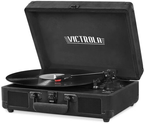 Victorla Vsc550Btbkv Bt Prtbl Turntable Vlvt Black - Victorla VSC-550BT-BKV Vintage Bluetooth Portable Suitcase TurntableVelvet (Black)