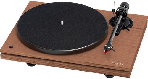 - Music Hall Audio mmf-3.3se Dual-Plinth Belt Drive 3 speed TurntableW/ortofon 2M red cartridge Walnut