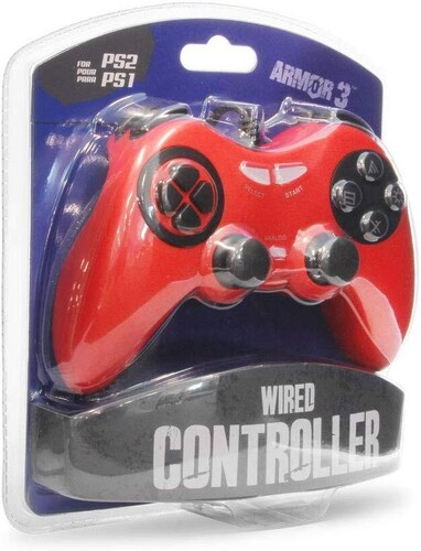 - Armor3 Wired Game Controller for PS2 (Red)