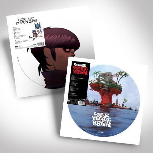 Gorillaz Double Vinyl Picture Disc Bundle