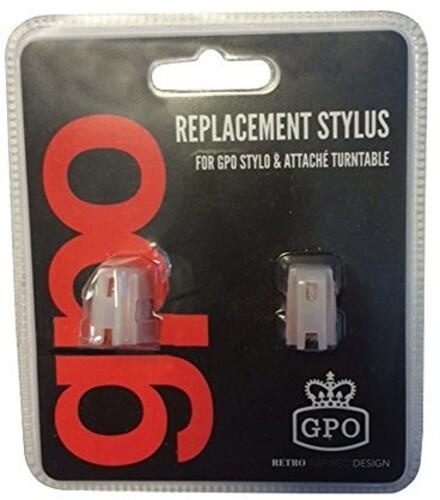 Gpo Gponeedlesty/Att Stylus 2Pk st/at/Am/Flt Red - GPO GPONEEDLESTY/ATT Stylus Needle 2 Pack STY/ATT/AMB/FLHT Red