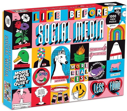 - Life Before Social Media 1000 Piece Puzzle