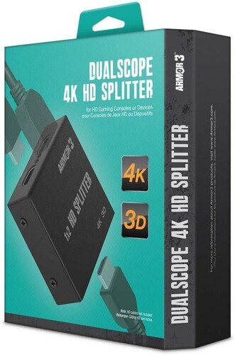 - Armor3 Dualscope 4K HD Splitter for HD Gaming Consoles