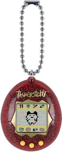 ORIGINAL TAMAGOTCHI RED GLITTER
