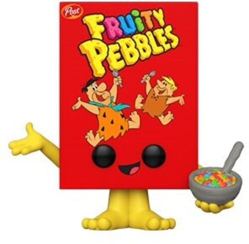 POST- FRUITY PEBBLES CEREAL BOX