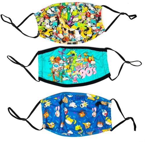 NICKELODEON 90'S ADULT SIZE FACE COVERS 3 PACK