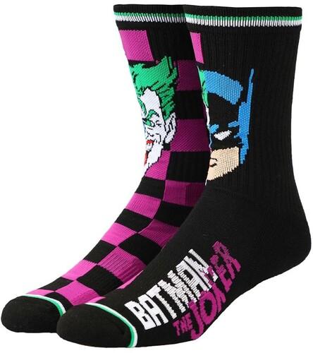 DC COMICS BATMAN & JOKER CREW SOCKS MEN'S 8-12