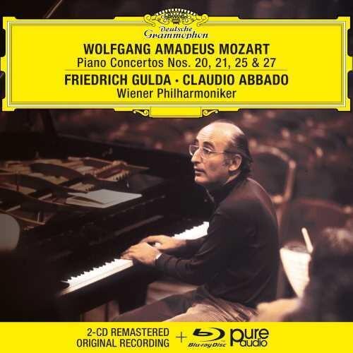 Wiener Philharmoniker Friedrich Gulda - Mozart: Piano Concertos Nos. 20, 21, 25 & 27 [2 CD/Blu-ray]