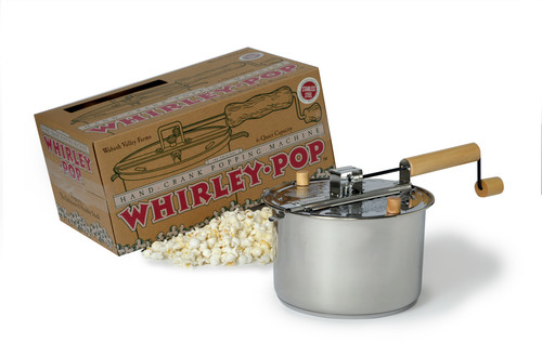 Whirleypop Stainless Steel Stovetop Popcorn Popper