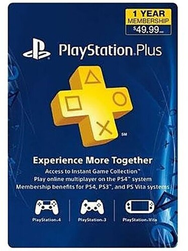 - PlayStation Plus: 12 Month Membership