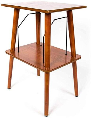 - GPO GPORPS Canterbury Retro Wooden Record Player Stand Cherry