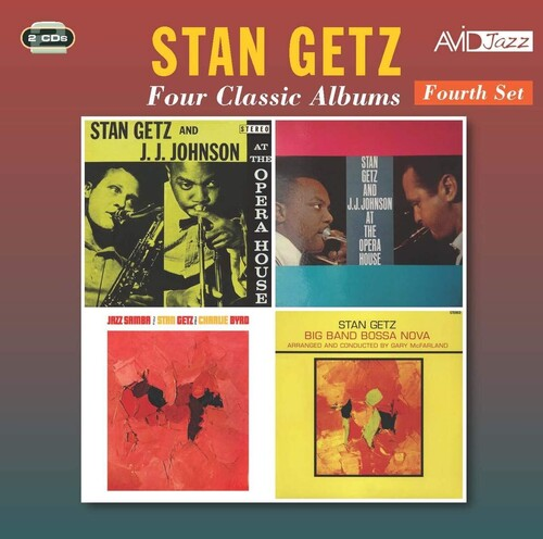 STAN GETZ - Four Classic Albums (At The Opera House Chicago (Stereo) /  At The Opera House (Mono) /  Jazz Samba /  Big Band Bossa Nova) (2CD)