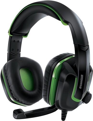Dg Dgxb1-6638 Xbox One Grs440 Unv Game Headset Blk - Dreamgear DGXB1-6638 GRS-440 Xbox One High Performance Headphones withBoom Microphone Universal (Black/Green)