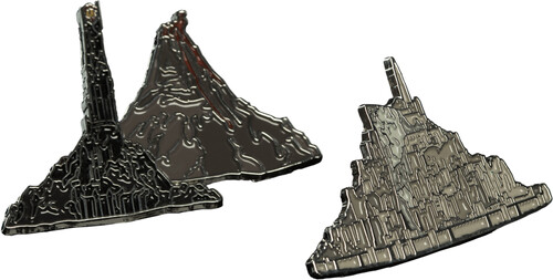 LORD OF THE RINGS PIN SET - MINAS TIRITH & MOUNT D