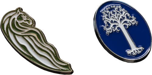LORD OF THE RINGS PIN SET - ROHAN HORSE & WHITE TR
