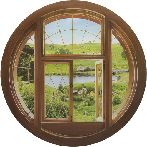 HOBBIT WALL DECAL - HOBBIT HOLE WINDOW