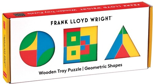 - Frank Lloyd Wright Geometric Shapes Wooden Tray Puzzle