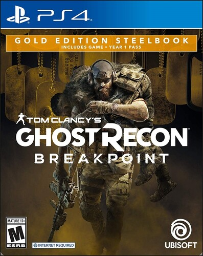 Ps4 Ghost Recon Breakpoint Steelbook Gold Ed - Ghost Recon Breakpoint Steelbook Gold Ed