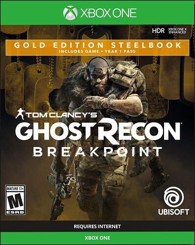 Xb1 Ghost Recon Breakpoint Steelbook Gold Ed - Ghost Recon Breakpoint Steelbook Gold Ed