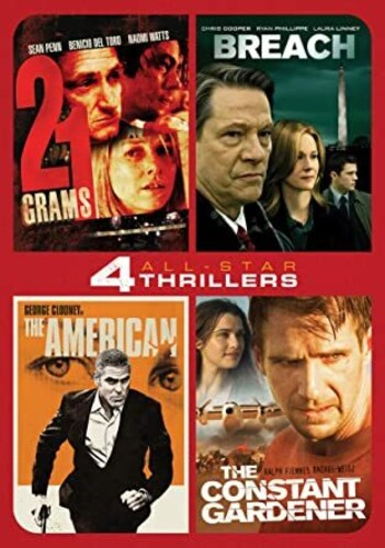 All-Star Thrillers: 4 Movie Collection - 21 Grams, Breach, TheAmerican, The Constant Gardener