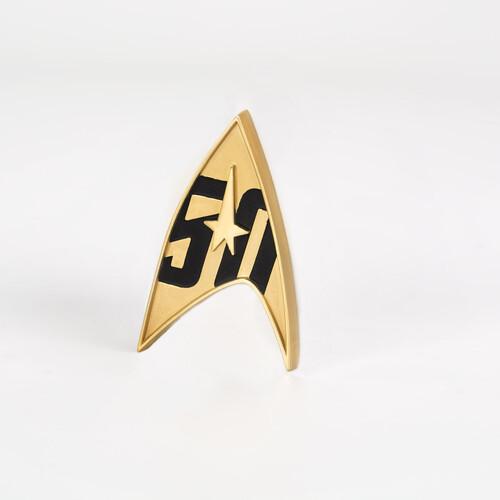 STAR TREK 50TH ANNIVERSARY MAGNETIC BADGE