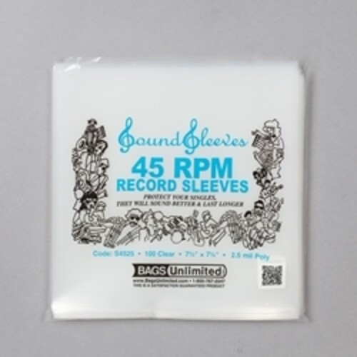 BU S4525 45 RPM LP OUTER SLEEVE 100 CNT CLEAR