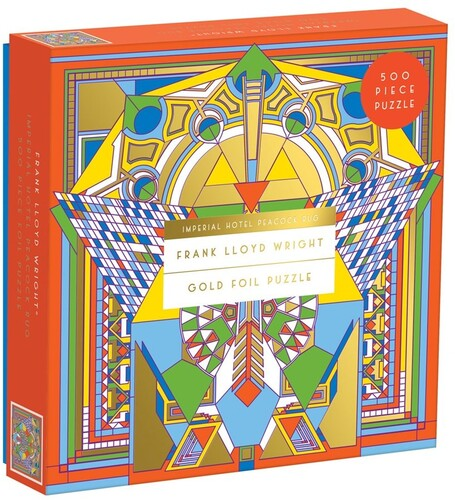 - Frank Lloyd Wright Imperial Hotel Peacock Rug 500 Piece Foil Puzzle