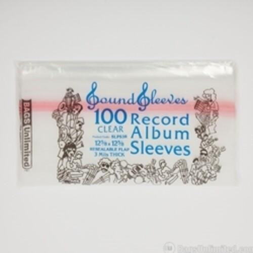 BU SLPSR3 LP JACKET SLEEVE RESEALABLE 100 CNT CLR