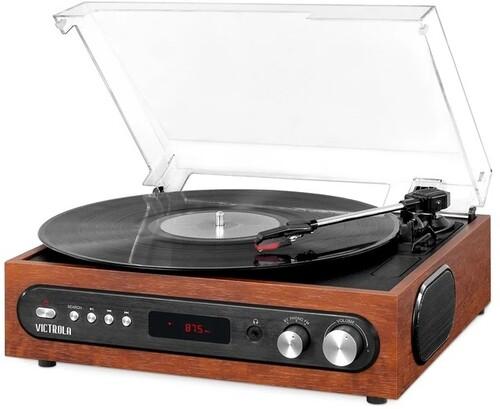 Victrola Vta-67-Esp Retro Bt 3/1 Turntable Fm Espr - Victrola VTA-67-ESP Retro 3-in-1 Bluetooth Wireless Turntable 3 SpeedsBuilt in Speakers FM Radio (Espresso)