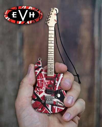 EDDIE VAN HALEN FRANKENSTEIN 6 IN GUITAR ORNAMENT