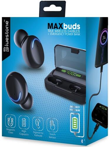 BLUESTONE TWS21BK MAXBUDS TW EARBUDS W/ POWER CS BK
