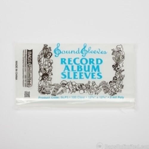 "SLP3 12"" POLY ALBUM SLEEVE-100 CT C3 MIL) NO FLAP"