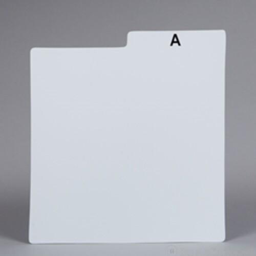 BU DLPP30A LP DIVIDER CARDS ALPHABET PLASTIC WHITE