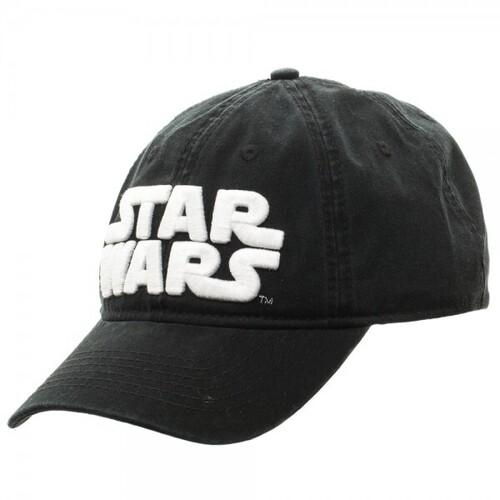 STAR WARS LOGO BLACK ADJUSTABLE BASEBALL CAP
