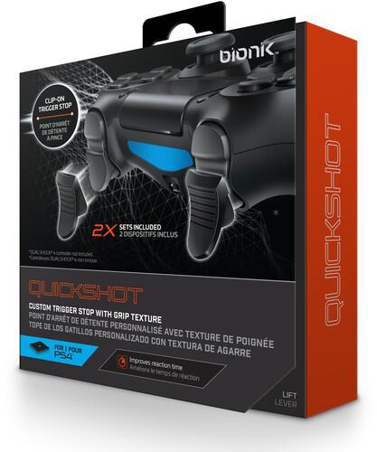 BIONIK BNK-9024 PS4 QUICKSHOT CONTROLLER GRIPS BL