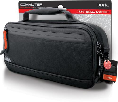 Bionik Bnk-9030 Nsw Commuter Case Storage Black - BIONIK BNK-9030 COMMUTER Nintendo Switch Case Black