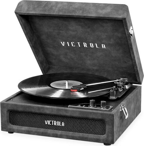 Victorla Vsc590Btlgr Bt Prtbl Tt Lambskin Grey - Victorla VSC-590BT-LGR Bluetooth Portable Turntable (Lambskin Grey)